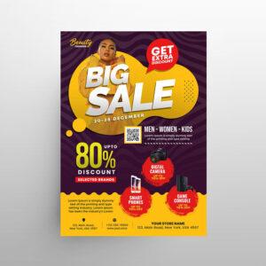 Season Mega Sale Free Flyer Template (PSD)