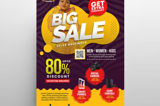 Season Mega Sale Free Flyer Template (PSD)