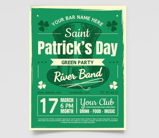 St. Patrick's Day Event Free Flyer Template (PSD)