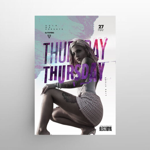 Thursday Party Free Flyer Template (PSD)