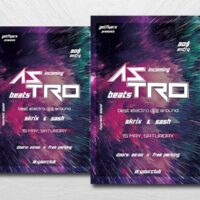 Astro Club Party Free Flyer Template (PSD)