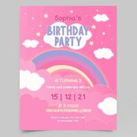 Birthday Party Invitation Free Flyer Template (PSD)