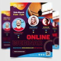 Business Online Webinar Free Flyer Template (PSD)