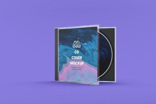 CD Half Closed Case Free Mockup