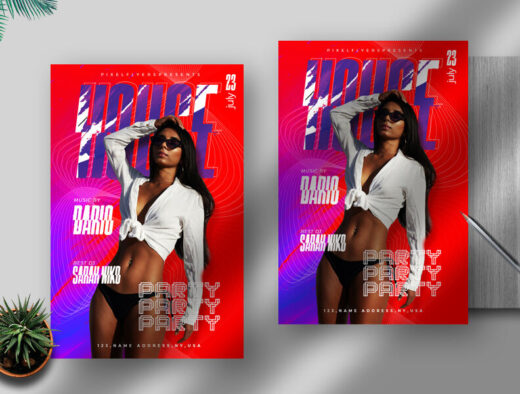 Club House Party Free Flyer Template (PSD)