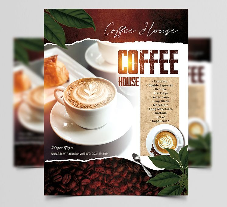 Coffee House Promotional Free Flyer Template (PSD)