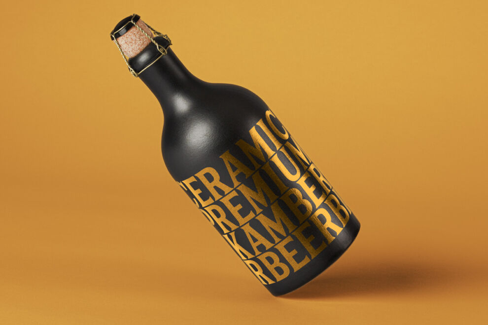Dark Bottle Free Mockup (PSD)