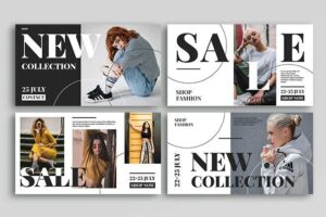 Fashion Ad Free Instagram Banners Templates (PSD)