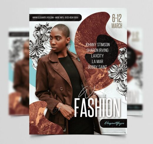 Fashion Week Event Free Flyer Template (PSD)