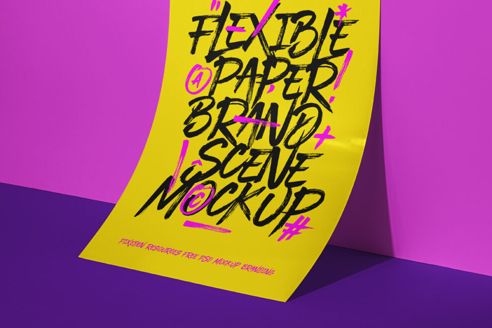 Free Flyer Brand Mockup (PSD)