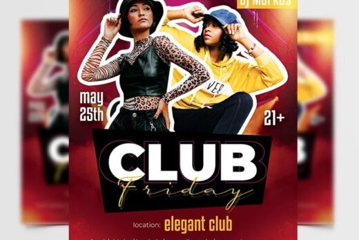 Friday Party Free Flyer Template (PSD)