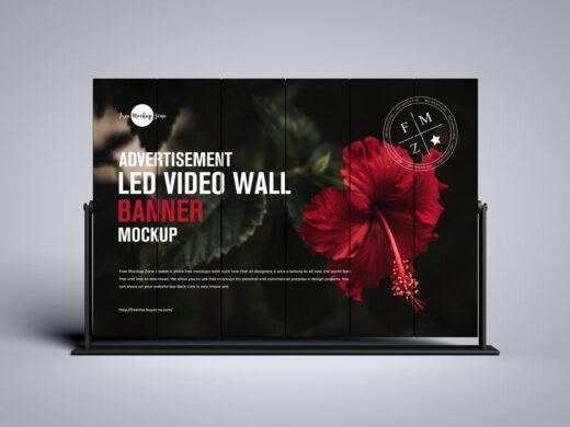 LED Video Wall Banner Free Mockup