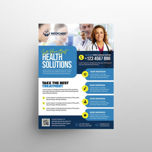 Medical Services Free Flyer Template (PSD)