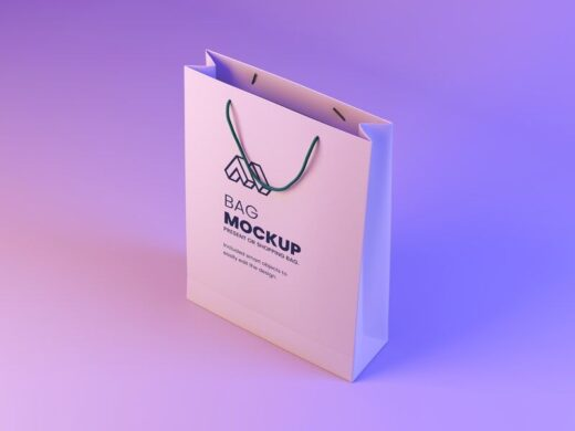 Modern Paper Bag Free Mockup