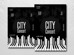 Piano Musical Event Free Flyer Template (PSD)