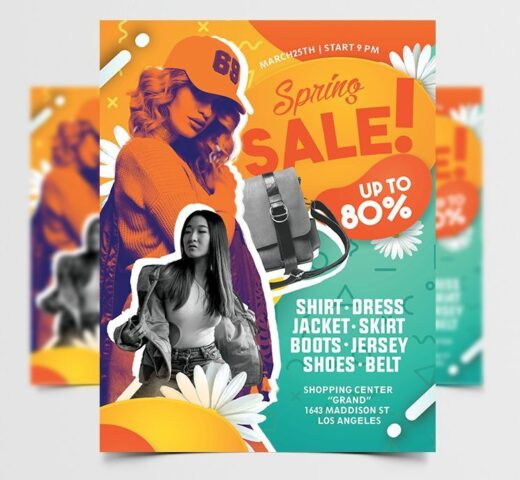 Spring & Summer Sale Free Flyer Template (PSD)