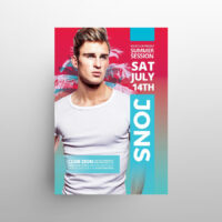 Summer Club Party Free Flyer Template (PSD)