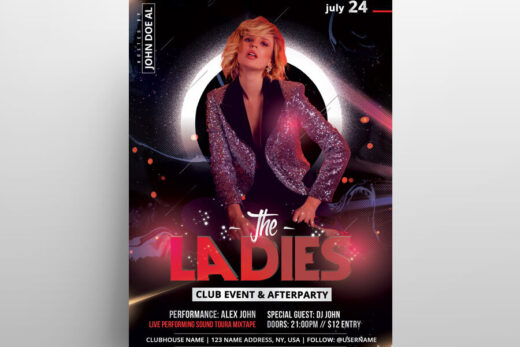 The Ladies Party Free Flyer Template (PSD)