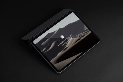 This is a very elegant psd iPad Pro mockup display to show any designs in style. Create your showcase easily using the smart layer this Free iPad Pro mockup.