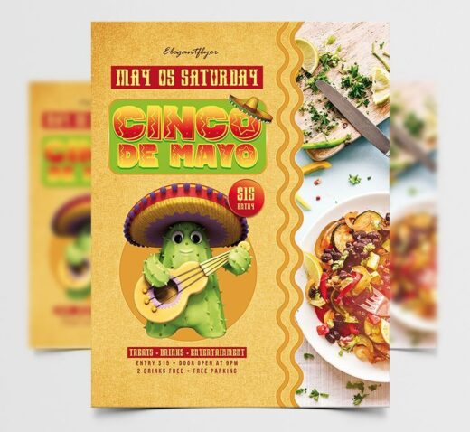 Cinco de Mayo 2021 Free Flyer Template (PSD)