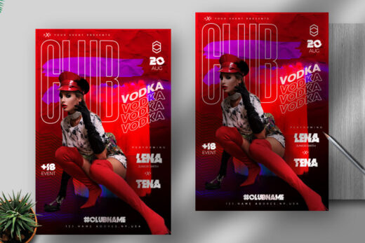 Club Night Vibe Free Flyer Template (PSD)