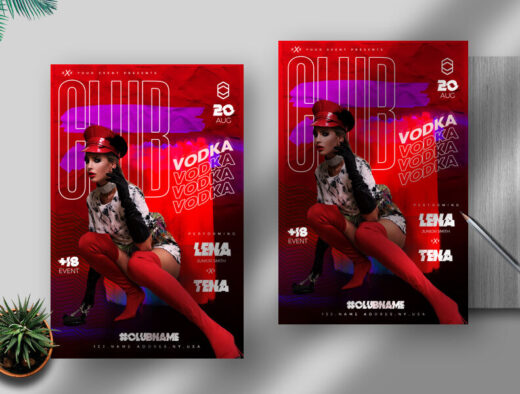 Club Night Vibe Free Flyer Template (PSD)