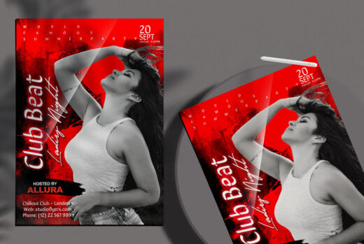 Club Vibe Party #3 Free Flyer Template (PSD)