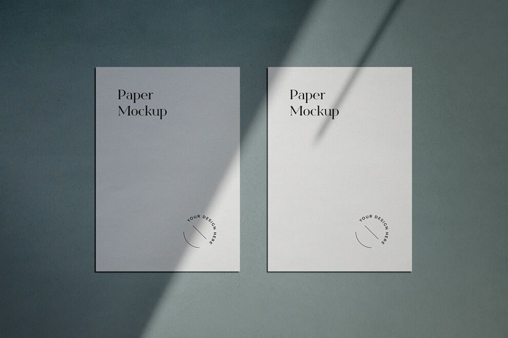 Free A4 Flyer With Shadows Mockup