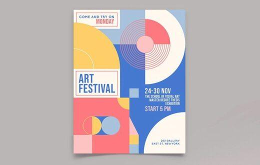 Free Art Event Flyer Template (PSD)
