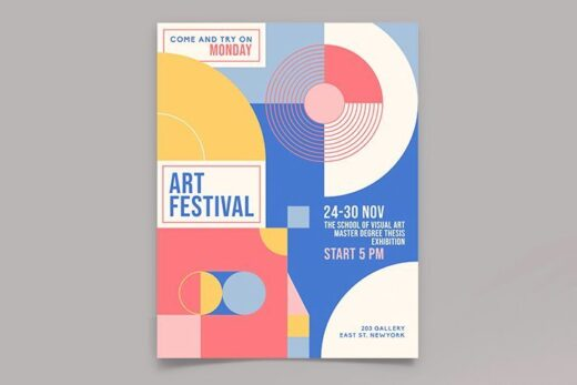 Free Art Event Flyer Template (PSD)