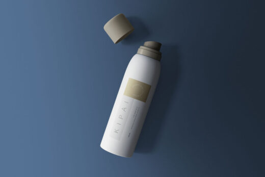 Free Cosmetic Spray Bottle Mockup (PSD)