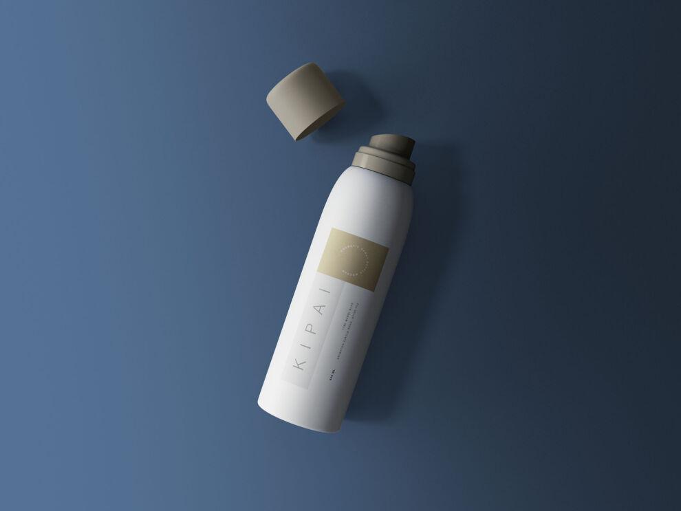 Free Cosmetic Spray Bottle Mockup (PSD)