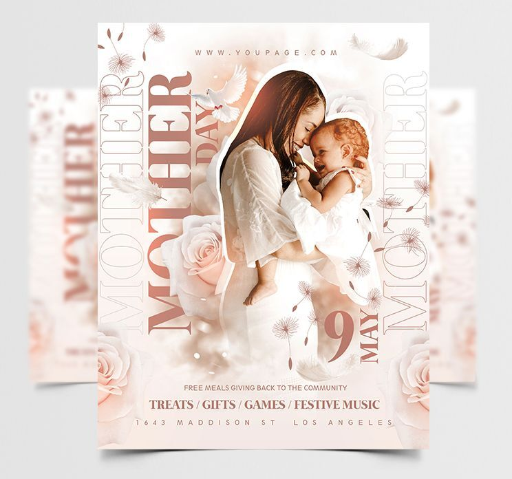 Free Elegant Mother Day Flyer Template (PSD)