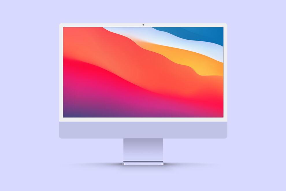 Free Minimalist iMac 24 Mockup