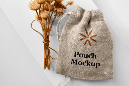 Free Small Pouch Mockup (PSD)