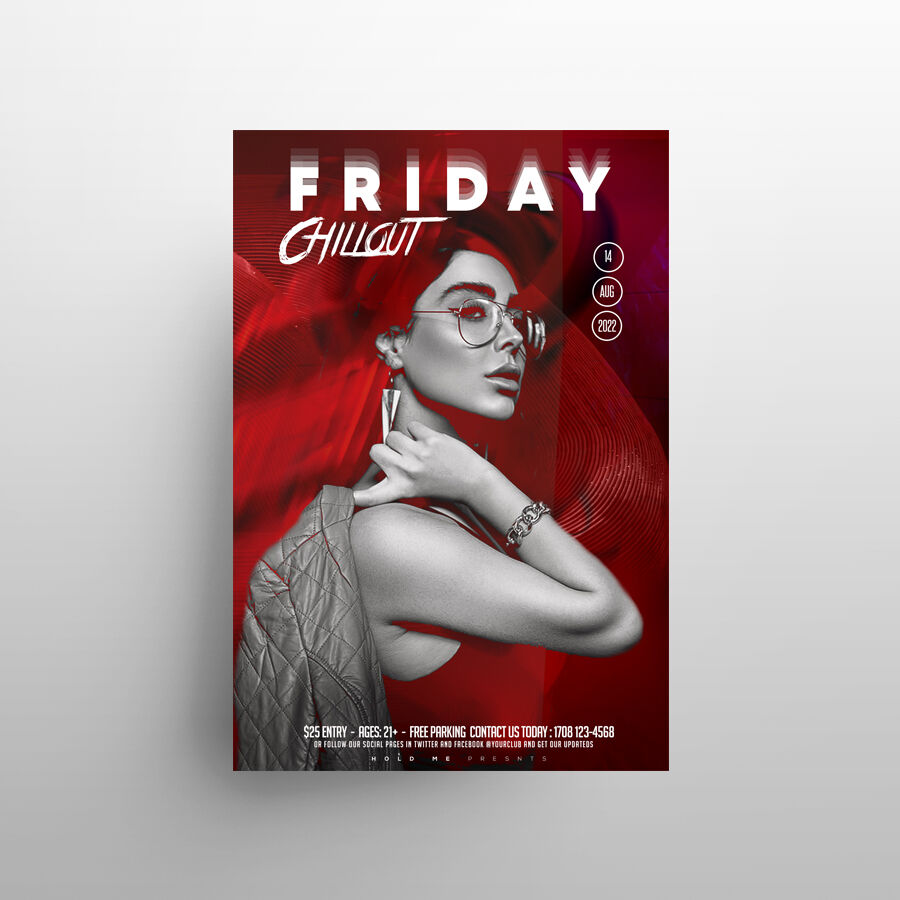 Friday Party DJ Free Flyer Template (PSD)