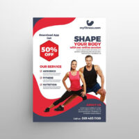 Gym Online Session Free Flyer Template (PSD)