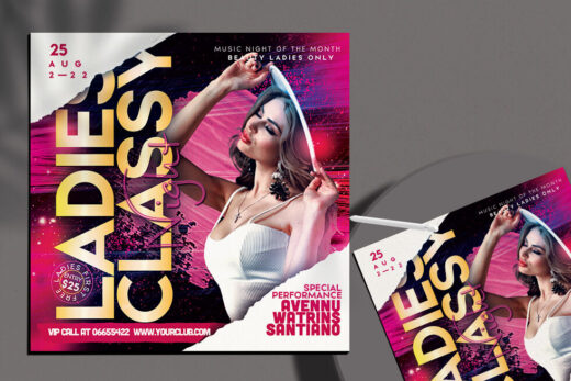 Ladies Classy Party Free Flyer Template (PSD)