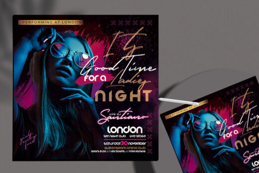 Ladies Night Out Free Flyer Template (PSD)