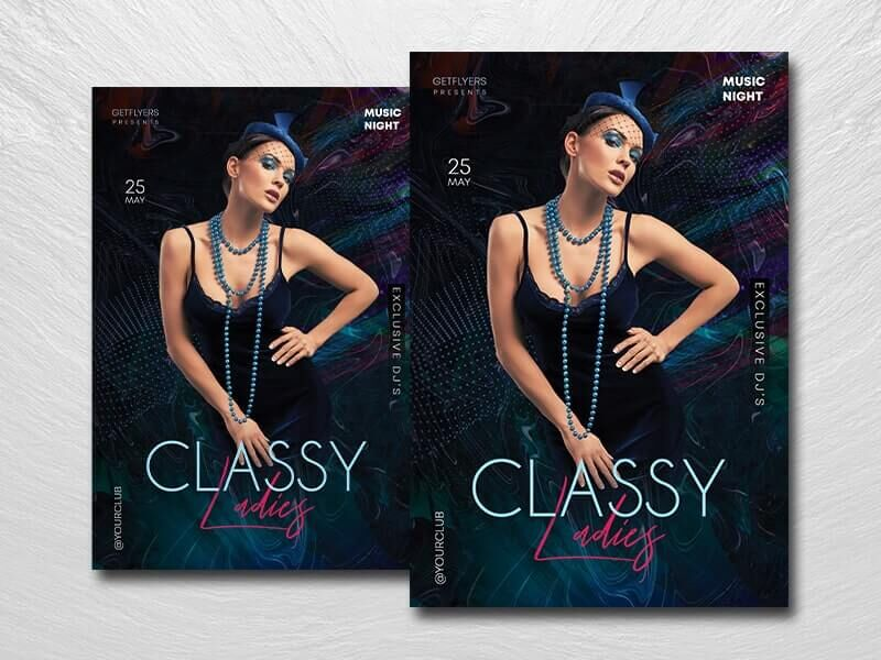 Minimal Ladies Party Free PSD Flyer Template
