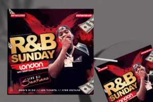 R&B Club Party Flyer Free Template (PSD)