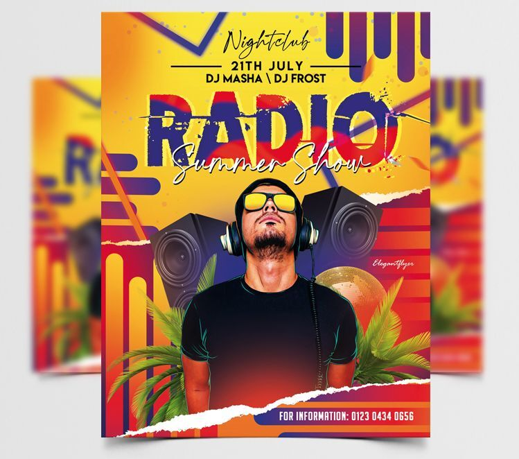 Radio Summer Show Free Flyer Template (PSD)