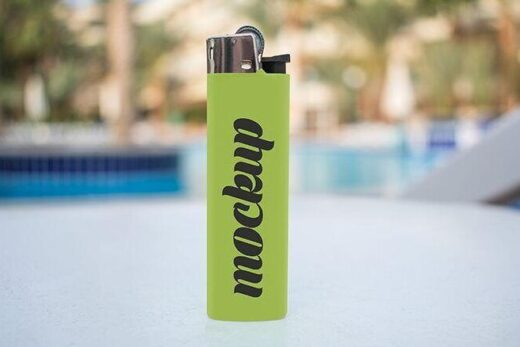 2 Free Plastic Lighter Mockups