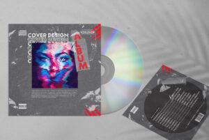 Artistic Music Free Mixtape CD Cover Artwork (PSD)