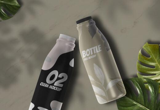 Bottle Packaging Free Mockup (PSD)