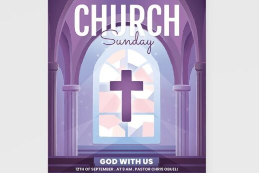 Church 2021 Event Free Flyer Template (PSD)