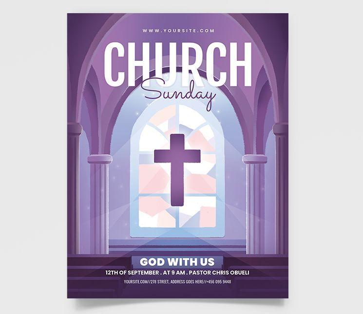 Church 2021 Event Free Flyer Template (PSD)