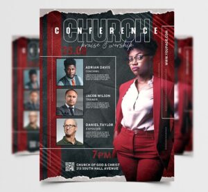 Church Conference Free Flyer Template (PSD)