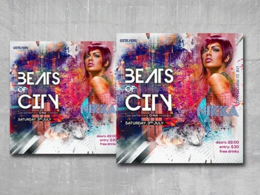 City Beat Free Instagram Banner Template (PSD)