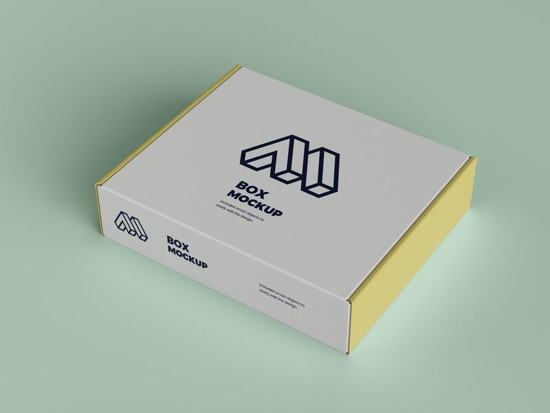 Closed Box Packaging Free Mockup